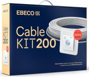 Ebeco Cable Kit 200 komplett paket med termostat EB-Therm 205