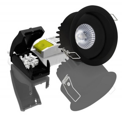 Downlight Linz Deep 6,5W Black 3000K