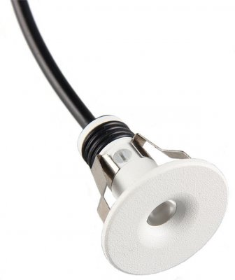 Mini downlight 1.2W mattvit 3m kabel
