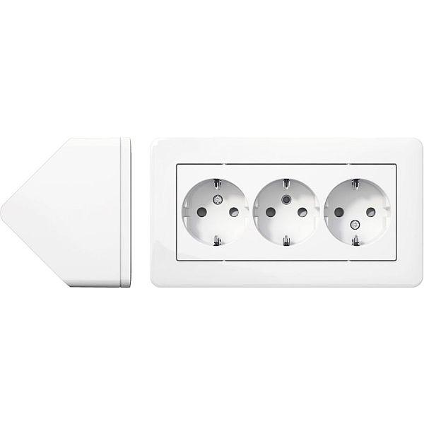 Kända Exxact Hörnbox Komplett med 3 uttag WDE008290 praktisk i kök under FH-59